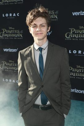 """HOLLYWOOD, CA - MAY 18: Actor Ty Simpkins at the Premiere of Disney's and Jerry Bruckheimer Films' """"Pirates of the Caribbean: Dead Men Tell No Tales,"""" at the Dolby Theatre in Hollywood, CA with Johnny Depp as the one-and-only Captain Jack in a rollicking new tale of the high seas infused with the elements of fantasy, humor and action that have resulted in an international phenomenon for the past 13 years. May 18, 2017 in Hollywood, California. (Photo by Rich Polk/Getty Images for Disney) *** Local Caption *** Ty Simpkins"""