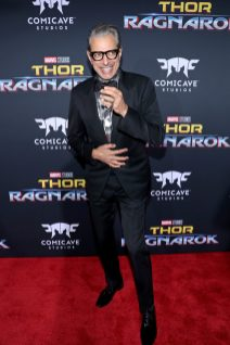 """HOLLYWOOD, CA - OCTOBER 10: Actor Jeff Goldblum at The World Premiere of Marvel Studios' """"Thor: Ragnarok"""" at the El Capitan Theatre on October 10, 2017 in Hollywood, California. (Photo by Rich Polk/Getty Images for Disney) *** Local Caption *** Jeff Goldblum"""