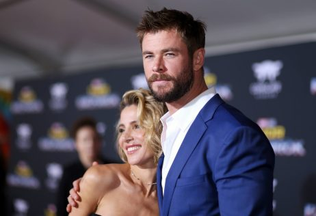 """HOLLYWOOD, CA - OCTOBER 10: Elsa Pataky and actor Chris Hemsworth at The World Premiere of Marvel Studios' """"Thor: Ragnarok"""" at the El Capitan Theatre on October 10, 2017 in Hollywood, California. (Photo by Rich Polk/Getty Images for Disney) *** Local Caption *** Elsa Pataky; Chris Hemsworth"""