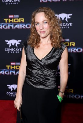 """HOLLYWOOD, CA - OCTOBER 10: Sarah Finn at The World Premiere of Marvel Studios' """"Thor: Ragnarok"""" at the El Capitan Theatre on October 10, 2017 in Hollywood, California. (Photo by Rich Polk/Getty Images for Disney) *** Local Caption *** Sarah Finn"""