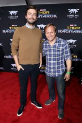 """HOLLYWOOD, CA - OCTOBER 10: Directors Jon Watts (L) and Jake Schreier at The World Premiere of Marvel Studios' """"Thor: Ragnarok"""" at the El Capitan Theatre on October 10, 2017 in Hollywood, California. (Photo by Rich Polk/Getty Images for Disney) *** Local Caption *** Jon Watts; Jake Schreier"""