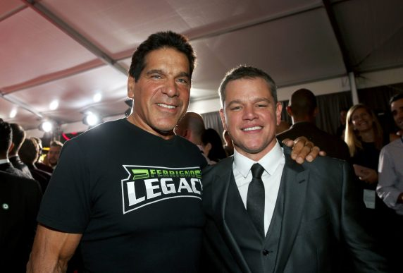 """HOLLYWOOD, CA - OCTOBER 10: Actors Lou Ferrigno (L) and Matt Damon at The World Premiere of Marvel Studios' """"Thor: Ragnarok"""" at the El Capitan Theatre on October 10, 2017 in Hollywood, California. (Photo by Jesse Grant/Getty Images for Disney) *** Local Caption *** Lou Ferrigno; Matt Damon"""