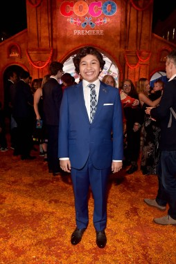 """HOLLYWOOD, CA - NOVEMBER 08: Actor Anthony Gonzalez at the U.S. Premiere of Disney-Pixarís """"Coco"""" at the El Capitan Theatre on November 8, 2017, in Hollywood, California. (Photo by Alberto E. Rodriguez/Getty Images for Disney) *** Local Caption *** Anthony Gonzalez"""