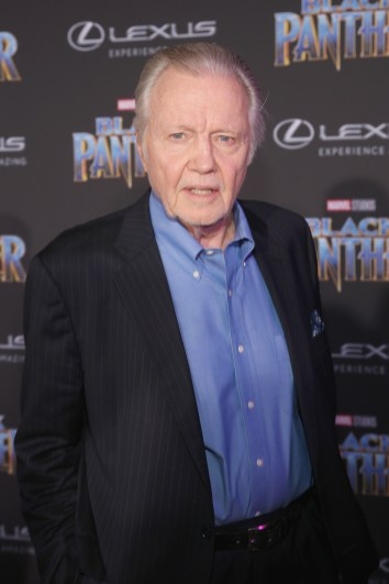 HOLLYWOOD, CA - JANUARY 29: Actor Jon Voight at the Los Angeles World Premiere of Marvel Studios' BLACK PANTHER at Dolby Theatre on January 29, 2018 in Hollywood, California. (Photo by Jesse Grant/Getty Images for Disney) *** Local Caption *** Jon Voight