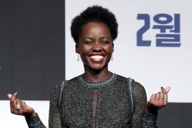SEOUL, SOUTH KOREA - FEBRUARY 05: Actor Lupita Nyong'o attends the press conference for the Seoul premiere of 'Black Panther' on February 5, 2018 in Seoul, South Korea. (Photo by Han Myung-Gu/Getty Images for Disney) *** Local Caption *** Lupita Nyong'o