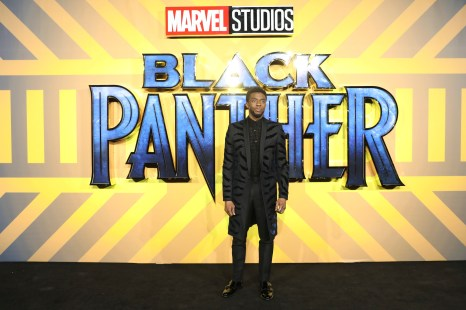 LONDON, UK – FEBRUARY 08: Chadwick Boseman attends the European Premiere of Marvel Studios' BLACK PANTHER at the Eventim Apollo in London on 8thFebruary 2018