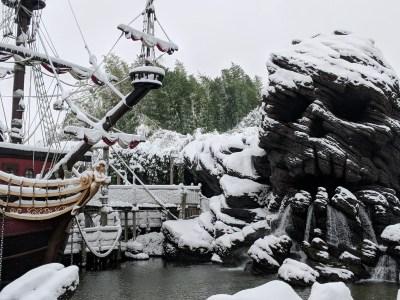 Disneyland Paris in the Snow