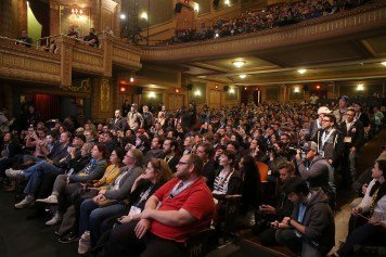"""AUSTIN, TX - MARCH 12: A general view of atmosphere during the Star Wars: The Last Jedi """"The Director and The Jedi"""" SXSW Documentary Premiere at Paramount Theatre on March 12, 2018 in Austin, Texas. (Photo by Jesse Grant/Getty Images for Disney)"""