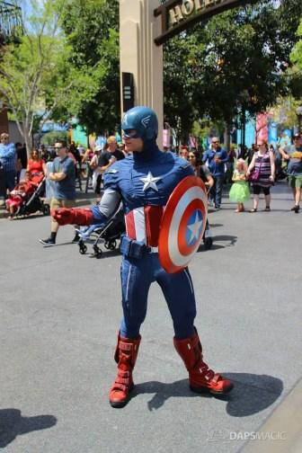 Captain America Aboard Avengers Jeep - Disney California Adventure