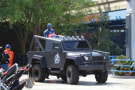 Captain America Aboard Avengers Jeep - Disney California Adventure