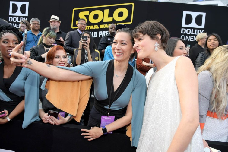 HOLLYWOOD, CA - MAY 10: Actor Phoebe Waller-Bridge (far R) attends the world premiere of ìSolo: A Star Wars Storyî in Hollywood on May 10, 2018. (Photo by Charley Gallay/Getty Images for Disney) *** Local Caption *** Phoebe Waller-Bridge