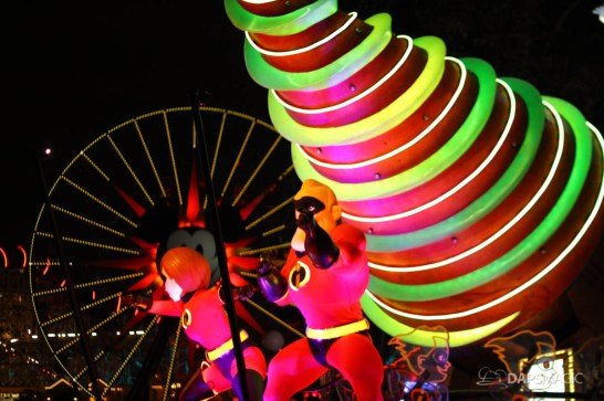 Pixar Pier Media Event - Paint the Night with Incredibles Float-55