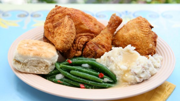 Fried Chicken at Plaza Inn - Disneyland