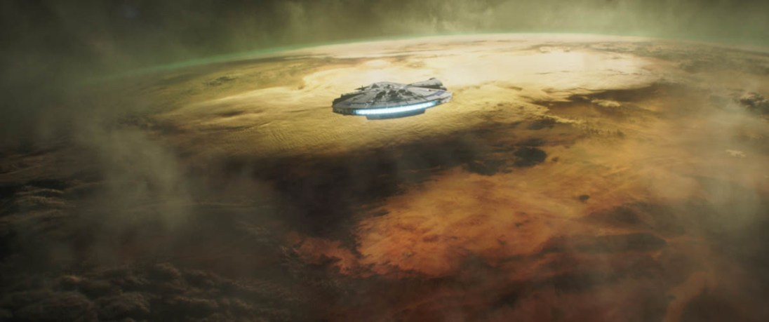 The Millenium Falcon in SOLO: A STAR WARS STORY.