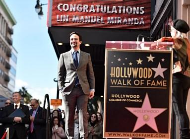 LOS ANGELES, CALIFORNIA - NOVEMBER 30: Lin-Manuel Miranda (L) and Rita Moreno attend the ceremony honoring Lin-Manuel Miranda with a Star on the Hollywood Walk of Fame on November 30, 2018 in Hollywood, California. (Photo by Alberto E. Rodriguez/Getty Images for Disney)