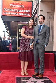 LOS ANGELES, CALIFORNIA - NOVEMBER 30: Vanessa Nadal (L) and Lin-Manuel Miranda attend the ceremony honoring Lin-Manuel Miranda with a Star on the Hollywood Walk of Fame on November 30, 2018 in Hollywood, California.. (Photo by Alberto E. Rodriguez/Getty Images for Disney)