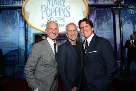 John DeLuca, Marc Platt and Rob Marshall attend The World Premiere of Disney's Mary Poppins Returns at the Dolby Theatre in Hollywood, CA on Wednesday, November 29, 2018 (Photo: Alex J. Berliner/ABImages)