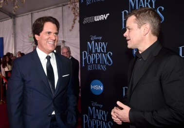 HOLLYWOOD, CA - NOVEMBER 29: Director/producer Rob Marshall (L) and Matt Damon attend Disney's 'Mary Poppins Returns' World Premiere at the Dolby Theatre on November 29, 2018 in Hollywood, California. (Photo by Alberto E. Rodriguez/Getty Images for Disney) *** Local Caption *** Matt Damon; Rob Marshall