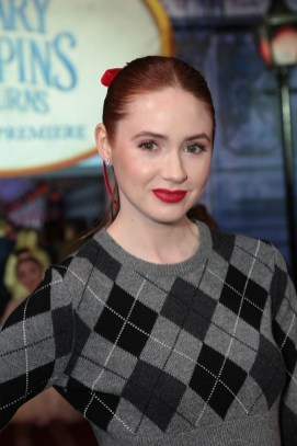 Karen Gillan attends The World Premiere of Disney's Mary Poppins Returns at the Dolby Theatre in Hollywood, CA on Wednesday, November 29, 2018 (Photo: Alex J. Berliner/ABImages)