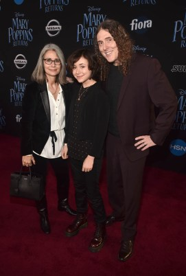 "HOLLYWOOD, CA - NOVEMBER 29: (L-R) Suzanne Yankovic, Nina Yankovic, and ""Weird Al"" Yankovic attend Disney's 'Mary Poppins Returns' World Premiere at the Dolby Theatre on November 29, 2018 in Hollywood, California. (Photo by Alberto E. Rodriguez/Getty Images for Disney) *** Local Caption *** ""Weird Al"" Yankovic; Nina Yankovic; Suzanne Yankovic"