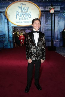 Jackson Dollinger attends The World Premiere of Disney's Mary Poppins Returns at the Dolby Theatre in Hollywood, CA on Wednesday, November 29, 2018 (Photo: Alex J. Berliner/ABImages)