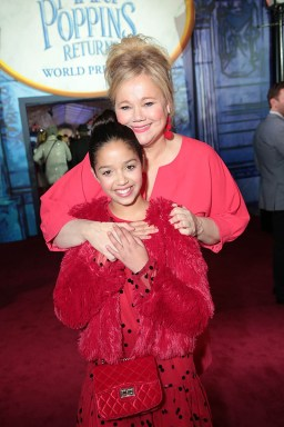 Ruth Righi and Caroline Rhea attend The World Premiere of Disney's Mary Poppins Returns at the Dolby Theatre in Hollywood, CA on Wednesday, November 29, 2018 (Photo: Alex J. Berliner/ABImages)