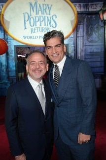 Marc Shaiman and Louis Mirabal attend The World Premiere of Disney's Mary Poppins Returns at the Dolby Theatre in Hollywood, CA on Wednesday, November 29, 2018 (Photo: Alex J. Berliner/ABImages)
