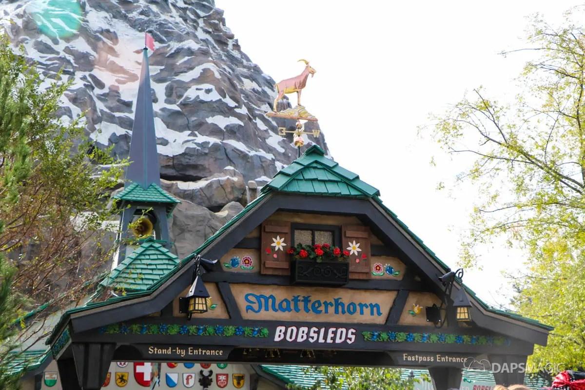 New Matterhorn Bobsleds Entrance And Queue At Disneyland 1 Daps Magic