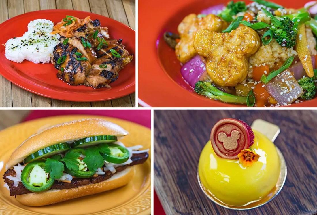 Lunar New Year food offerings