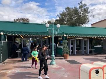 New Security Tents at the Disneyland Resort Debut on Harbor Blvd Side of Esplanade