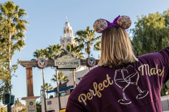 """During the Disney California Adventure Food & Wine Festival, from March 1 to April 23, 2019, guests will find an array of merchandise options to spice up their culinary journey, including this festival-inspired """"Perfect Match"""" sweater. During the festival, guests can explore California-inspired cuisine and beverages, plus live entertainment, family-friendly seminars and cooking demonstrations. (Joshua Sudock/Disneyland Resort)"""