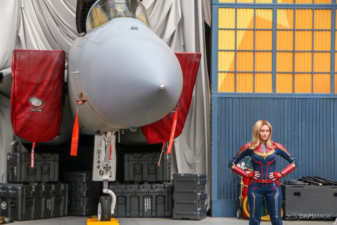 Captain Marvel Jets to New Photo Location at Disney California Adventure!