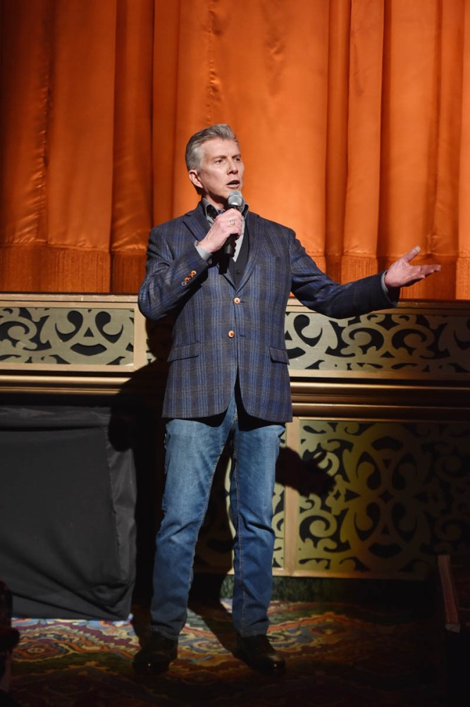 """LOS ANGELES, CA - MARCH 11: Michael Buffer speaks during the World Premiere of Disney's """"Dumbo"""" at the El Capitan Theatre on March 11, 2019 in Los Angeles, California. (Photo by Alberto E. Rodriguez/Getty Images for Disney) *** Local Caption *** Michael Buffer"""