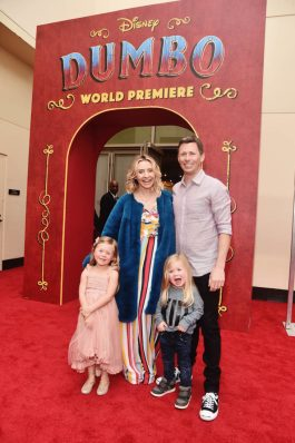 "LOS ANGELES, CA - MARCH 11: Beverley Mitchell (C) and guests attend the World Premiere of Disney's ""Dumbo"" at the El Capitan Theatre on March 11, 2019 in Los Angeles, California. (Photo by Alberto E. Rodriguez/Getty Images for Disney) *** Local Caption *** Beverley Mitchell"
