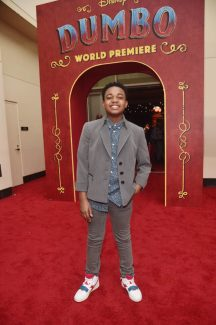 """LOS ANGELES, CA - MARCH 11: Issac Ryan Brown attends the World Premiere of Disney's """"Dumbo"""" at the El Capitan Theatre on March 11, 2019 in Los Angeles, California. (Photo by Alberto E. Rodriguez/Getty Images for Disney) *** Local Caption *** Issac Ryan Brown"""