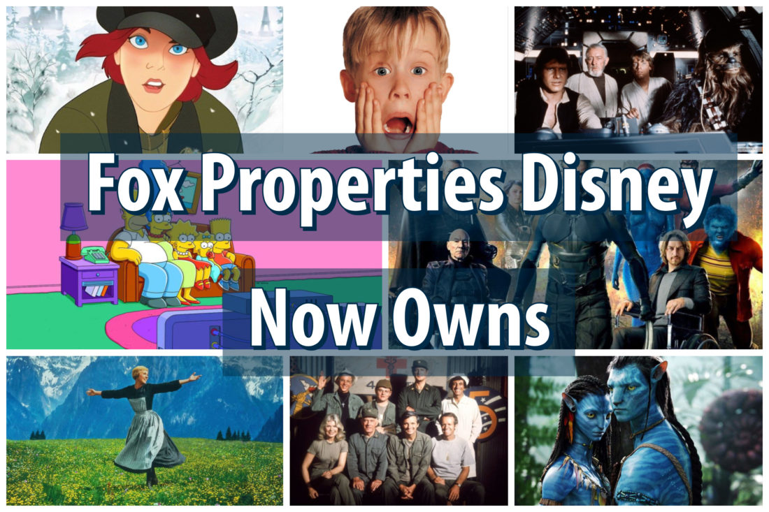 With the Purchase of 20th Century Fox, Disney Now Owns These Properties