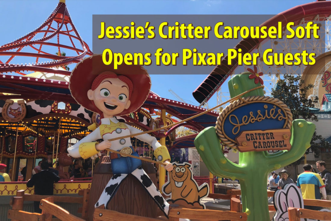 Jessie's Critter Carousel Soft Opens for Pixar Pier Guests