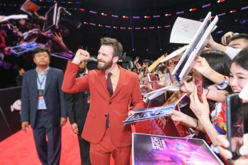 Chris Evans at the Avengers Endgame China Fan Event Red Carpet
