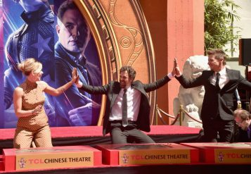 AVENGERS- ENDGAME Handprints at Chinese Theatre-17