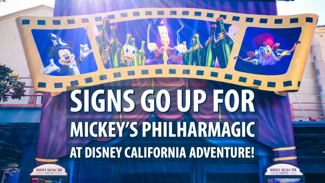 Mickey's PhilharMagic in Disney California Adventure Park Gets Cinematic Signage Ahead of this Month's Grand Opening