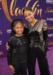 "LOS ANGELES, CA - MAY 21: Violet Madison Nash (L) and Christina Milian attend the World Premiere of Disney's ""Aladdin"" at the El Capitan Theater in Hollywood CA on May 21, 2019, in the culmination of the film's Magic Carpet World Tour with stops in Paris, London, Berlin, Tokyo, Mexico City and Amman, Jordan. (Photo by Jesse Grant/Getty Images for Disney) *** Local Caption *** Violet Madison Nash; Christina Milian"