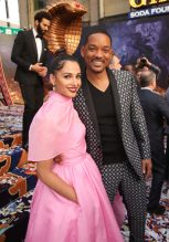 "LOS ANGELES, CA - MAY 21: Naomi Scott (L) and Will Smith attend the World Premiere of Disney's ""Aladdin"" at the El Capitan Theater in Hollywood CA on May 21, 2019, in the culmination of the film's Magic Carpet World Tour with stops in Paris, London, Berlin, Tokyo, Mexico City and Amman, Jordan. (Photo by Jesse Grant/Getty Images for Disney) *** Local Caption *** Naomi Scott; Will Smith"