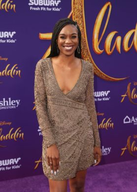 "LOS ANGELES, CA - MAY 21: Stacy Ike attends the World Premiere of Disney's ""Aladdin"" at the El Capitan Theater in Hollywood CA on May 21, 2019, in the culmination of the film's Magic Carpet World Tour with stops in Paris, London, Berlin, Tokyo, Mexico City and Amman, Jordan. (Photo by Jesse Grant/Getty Images for Disney) *** Local Caption *** Stacy Ike"