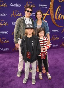 "LOS ANGELES, CA - MAY 21: Johnny Knoxville and family attend the World Premiere of Disney's ""Aladdin"" at the El Capitan Theater in Hollywood CA on May 21, 2019, in the culmination of the film's Magic Carpet World Tour with stops in Paris, London, Berlin, Tokyo, Mexico City and Amman, Jordan. (Photo by Jesse Grant/Getty Images for Disney) *** Local Caption *** Johnny Knoxville"