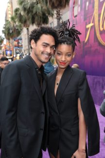 Trey Smith and Willow Smith attend the World Premiere of DisneyÕs Aladdin at the El Capitan Theater in Hollywood, CA on Tuesday, May 21, 2019, in the culmination of the filmÕs Magic Carpet World Tour with stops in Paris, London, Berlin, Tokyo, Mexico City and Amman, Jordan. (photo: Alex J. Berliner/ABImages)