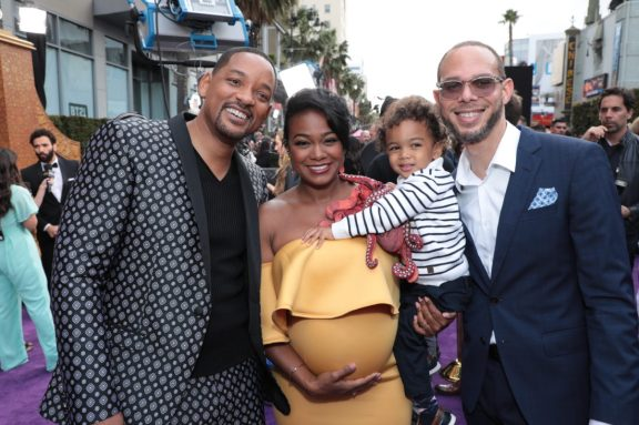 Will Smith, Tatyana Ali, Edward Aszard Rasberry and Vaughn Rasberry attend the World Premiere of DisneyÕs Aladdin at the El Capitan Theater in Hollywood, CA on Tuesday, May 21, 2019, in the culmination of the filmÕs Magic Carpet World Tour with stops in Paris, London, Berlin, Tokyo, Mexico City and Amman, Jordan. (photo: Alex J. Berliner/ABImages)