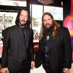HOLLYWOOD, CA - JUNE 11: (L-R) Keanu Reeves and Chris Stapleton attend the world premiere of Disney and Pixar's TOY STORY 4 at the El Capitan Theatre in Hollywood, CA on Tuesday, June 11, 2019. (Photo by Alberto E. Rodriguez/Getty Images for Disney) *** Local Caption *** Chris Stapleton; Keanu Reeves