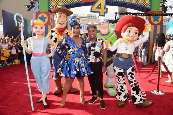HOLLYWOOD, CA - JUNE 11: Patrick Starrr (L) and guest attend the world premiere of Disney and Pixar's TOY STORY 4 at the El Capitan Theatre in Hollywood, CA on Tuesday, June 11, 2019. (Photo by Alberto E. Rodriguez/Getty Images for Disney) *** Local Caption *** Patrick Starrr