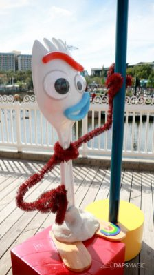 Forky on Pixar Pier at Disney California Adventure