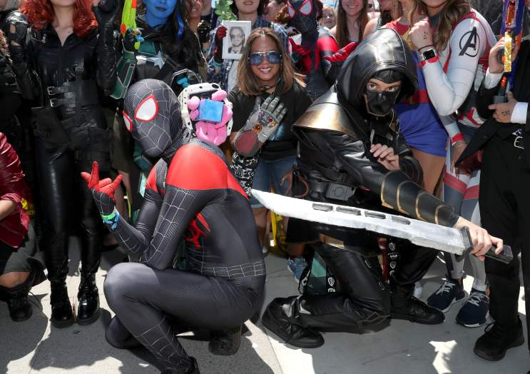 SAN DIEGO, CALIFORNIA - JULY 20: Attendees in cosplay are seen at the #IMDboat at San Diego Comic-Con 2019: Day Three at the IMDb Yacht on July 20, 2019 in San Diego, California. (Photo by Rich Polk/Getty Images for IMDb)